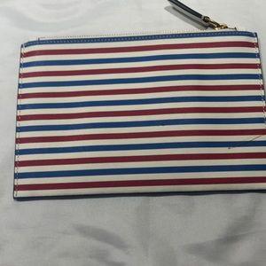 J. Crew striped clutch wallet
